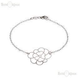 Silver Blue CZ Bracelet