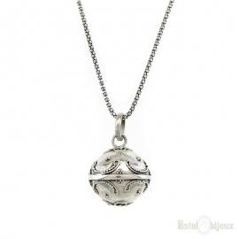 Angel Caller Ball Silver Necklace