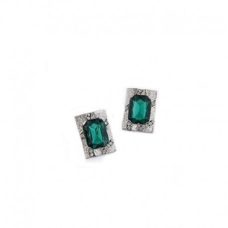Earrings Green diamond