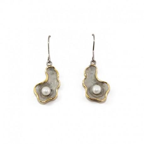 Orecchini argento con perle LA NATURA