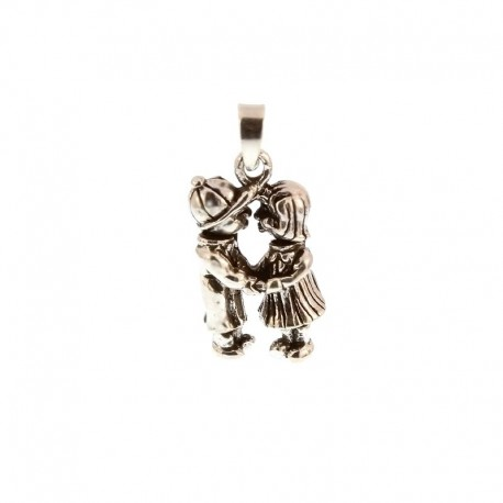 Boy and Girl Charms Silver Pendant