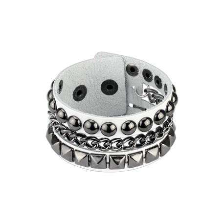 Pyramid & Ball Studs Bracelet