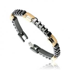 Segmented Black Bracelet