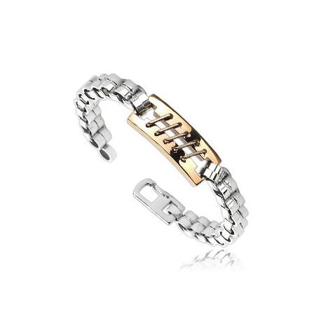 Bronze Tone Stitch Bracelet