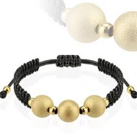 Bracelet with gold balls