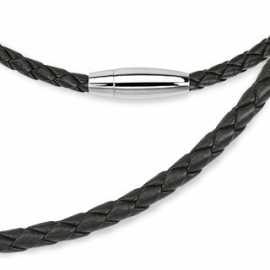 Black Leather Necklace