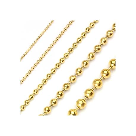 Collana con palline oro