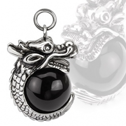 Dragon Black Orb Pendant