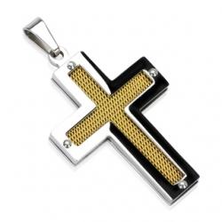 Croce Pendente Acciaio