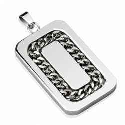 Chain Link Inlay Pendant