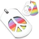 Rainbow Peace Necklaces