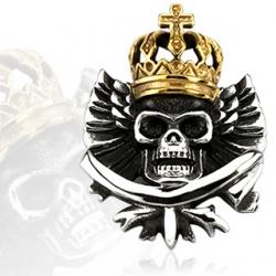 Ciondolo Cranio con Corona