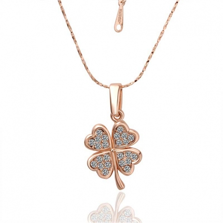 Necklace four-leaf clover