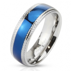 IP Blue Ring 316L Stainless Steell