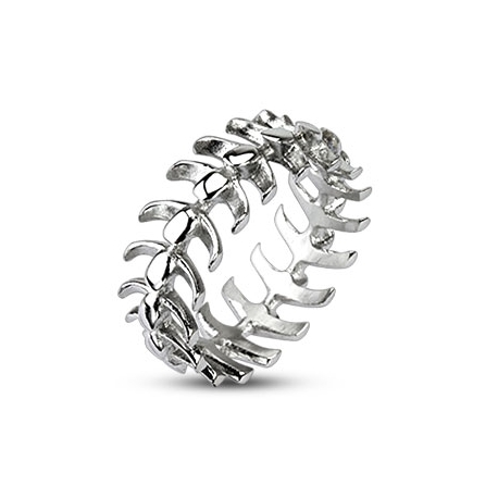 Vertebrae Looped Bone Ring