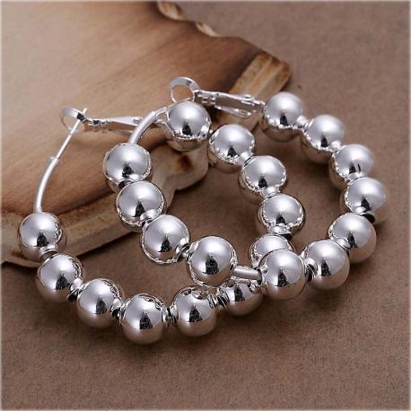 Hoops Silver Plated Earrings