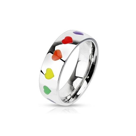 Rainbow Hearts Ring