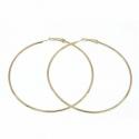 Orecchini cerchio grande oro XXL 8 cm
