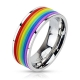 Rainbow Rubber Striped Band Ring