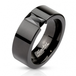 Anello Nero in Acciaio Inox