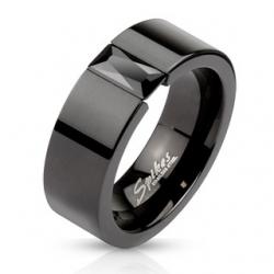 Black IP Band Ring