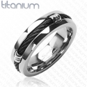 Black Ring Solid Titanium