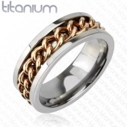 Ring Chain Solid Titanium