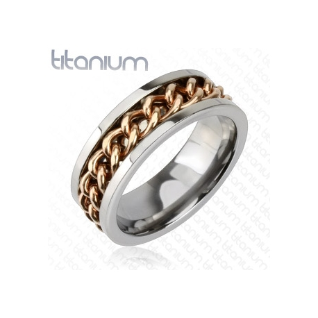 Ring Chain Solid Titanium