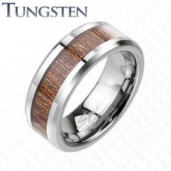 Anello Tungsteno e Legno
