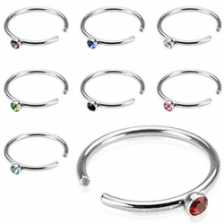Nose Hoop Ring Crystal