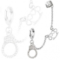 Hoop Chain Earring with Cuffs Dangles