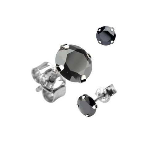 Stud Earring Black CZ