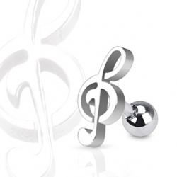 Music Note Tragus/Cartilage Piercing Stud
