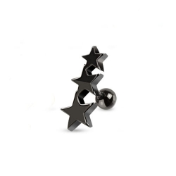 Three Stars Tragus/Cartilage Piercing Stud