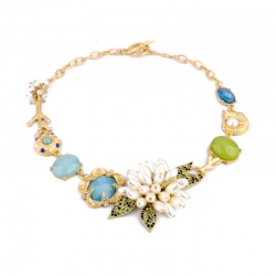 Flowers and Stones Necklace
