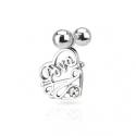 CZ Love Heart Tragus/Cartilage