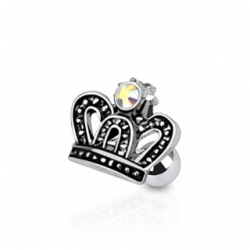 Royal Crown with CZ Piercing