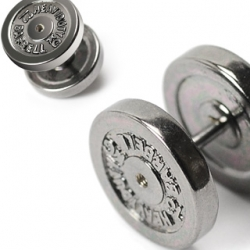 12mm Dumbbell IP Faux Fake Plugs