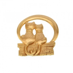 Brooch TWO CATS