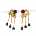 Clip On Earrings - Onyx