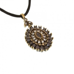 Necklace Onyx and CZ