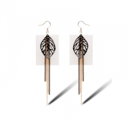 Leaf and Chains Earrings
