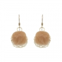 Calcite Faceted Earrings