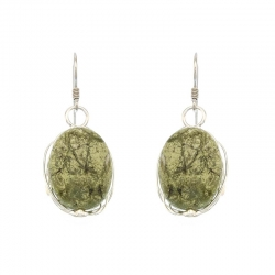 Serpentine Stone Earrings