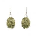 Serpentine Stone Earrings