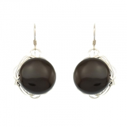 Black Onyx Stone Earrings