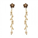 Earrings Flower and Pearls