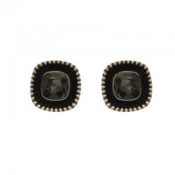 Black Squares Earrings