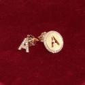 Orecchini Asimmetrici Lettera Iniziali in Argento 925