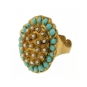 Ring Turquoise Pearls